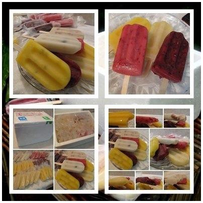 爆熱的天氣--來枝天然水果製作成關山吳媽媽做的冰捧吧~