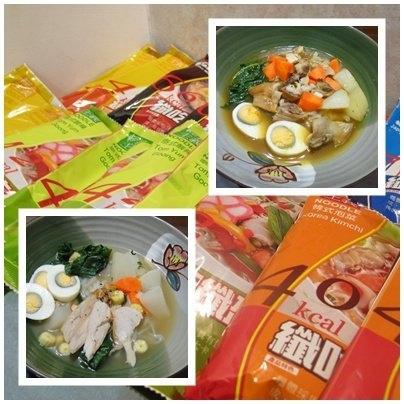 輕食晚餐-纖吃纖盈雞肉咖哩蒟蒻麵vs日式豚骨味噌蒟蒻麵