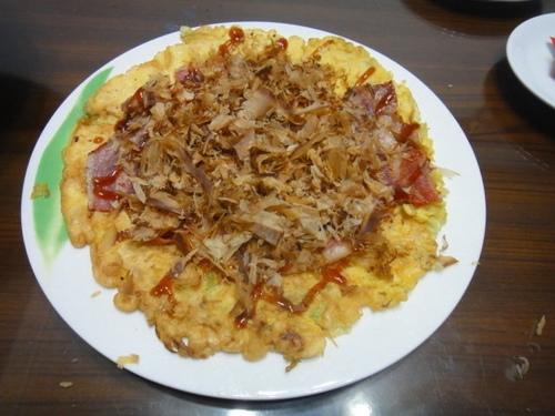 六寶晚餐-培根大阪燒佐玉米濃湯