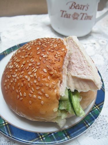輕食早餐-火雞胸肉蔬食漢堡