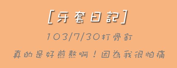 [牙套日記]♥♥103/7/30打骨釘,真煎熬啊!