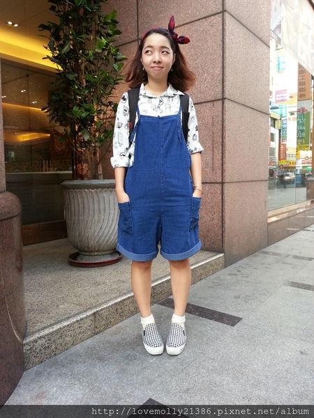 (穿搭)吊帶日記PART3!超彈性古著吊帶褲♡::搞怪就是我的代名詞!::