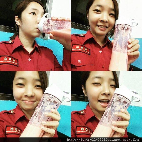 (分享)消防女孩的健康日常✔小資外宿一族必備!::SAMPO聲寶 隨行杯果汁機::