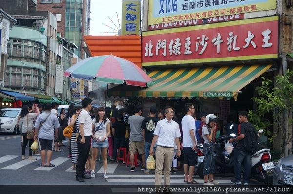 (美食)宜蘭 難怪食尚玩家的排隊店第一名頒給他!::北門綠豆沙牛乳大王::