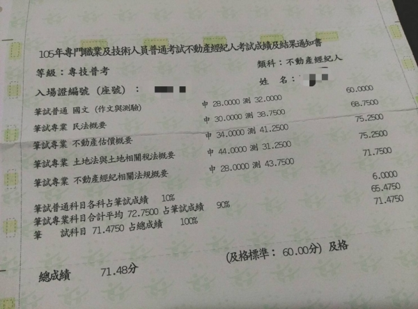 [考試]如何一年內考取不動產雙證照不動產經紀人、地政士上榜讀書方法2017