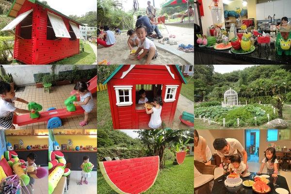 【育兒★親子餐廳】北埔~西瓜莊園,小孩放風好去處+小Elly 2Y慶生。