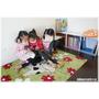 靚媽咪的甜蜜小屋 溫馨迷人兒童閱覽室的巧思創意分享-柳橙二用坐靠墊+諾爾實木小板凳+智慧生活二格櫃