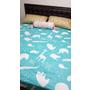 HOLA寢具。大人小朋友都喜歡的動物學防螨抗菌雙人床包。顏色清爽。觸感柔軟。
