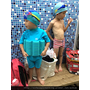 """夏天  就是要帶兒子去運動""""游泳"""""""