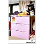 收納時尚又簡單-日本IRIS粉彩三層收納櫃W55