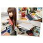 【收納】歐耶 !! 新買的黑砂鑽三層活動公文架 ♥ 幫我把書桌上的文件變整齊囉