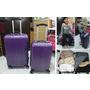 《購物》HOLA特力和樂♥巴黎時尚PC拉絲行李箱二件組 紫羅蘭  ♥旅行輕巧拖著走~時尚又耐用!
