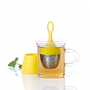 【濾茶器推薦】榮獲德國 #Form 2009設計大獎的AdHoc 漂浮濾茶器~小巧可愛好攜帶,是噹噹媽泡茶的好幫手喔!