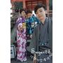[國外旅行]**和服特輯** ❤京都 大阪之旅❤賞櫻2015/3/29~4/3, Day2 京都-夢京都穿和服,女生--深藍和服+深紫和服&男生---和服!! 我們都變成日本人拉~~~~~~!!