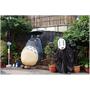 『台中。大里』立體龍貓公車。宮崎駿系列-無臉男也來等著坐龍貓公車去找湯婆婆