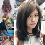 【染髮】秋冬大勢Ombre Hair:韓系漸層染2 tone color▌夕陽金棕X闇夜藍黑色 ▌