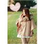 【穿搭】WANNABE*英倫風情/日系甜心毛毛領短版斗篷♥超甜美的毛茸茸斗篷,冬天女孩必備的保暖外套 ⛄