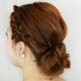 頭髮教學-適合在聖誕聚會上展現的編髮+丸子頭