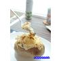 【焗烤培根蘑菇馬鈴薯】滑順細緻的馬鈴薯泥混著濃郁奶香及起司香超級好吃又有飽足感.搭配梅爾雷赫皮夸爾原初款頂級冷壓初榨橄欖油