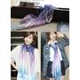 ADDONS哎喔購物網-天染工坊 植物染蠶絲嫘縈漸層圍巾 + 簡易絲巾穿搭示範