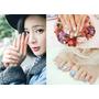 ♥愛光療x Venus nail♥指甲也要丹寧布紋!蕾絲與漸層花手繪,春夏超適合