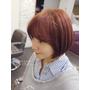 【染髮】超夯的喬妹髮型:「八字瀏海」+「櫻花粉紅髮色」變髮日記