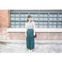 【穿搭】夏日清新穿搭,讓我深深著迷的祖母綠百褶裙*3套LOOK