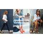 【Outfit】LACE UP STYLE❤今夏時髦女孩都該有一雙綁帶鞋