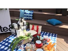 Crate and Barrel 屋頂野餐派對 野餐愛好者頂樓同樂 國際野餐日享受美式悠閒生活