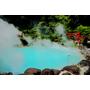 """【日本,九州,大分】溫泉之最,元氣活力再現!別府溫泉""""海地獄""""(Umi-Jigoku) 藍得好美,好夢幻。(同場佳映地獄蒸料理,蒸de喜屋)"""