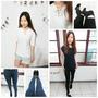【嘉蒂斯Goddess】平價流行時尚女裝推薦~以白素色短T搭配單品牛仔褲 呈現夏日簡約俐落清爽風