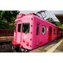 【日本,和歌山】行駛在和歌山市~加太;粉紅指數爆錶,超萌,超卡哇伊的鯛魚列車(吉慶鯛電車)。
