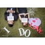 ♡Wedding♡婚紗照道具DIY之三❤LOVE字樣手拿牌vs紫色大愛心vs愛心戒枕