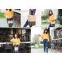(穿搭) 台灣在地品牌手提包 EIQ日系質感純手工環保材質磁扣手提包 感受創意與手作的溫度