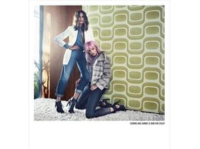 Sisley最新2016秋冬形象廣告,搶眼超模母女檔共同演繹搖滾時尚