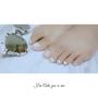 腳ㄚ子兩款白色系簡單風格美甲✓24小時營業✓粉鑽美學殿堂