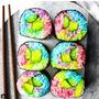 彩虹壽司也太美!!有人吃過了嗎?