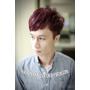 2016~2017男生流行髮型~暖男風格<玫瑰紫棕>不平凡的髮色~台北西門町東區髮型BENSON尚洋髮藝