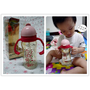 【親子 用品】單手好蓋、小手好拿,安全耐高溫的可愛水杯。小獅王辛巴-PPSU自動把手滑蓋杯