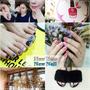 [師大美甲] 韓Nail♥冬天就是要粉嫩嫩的粉紅大理石&粉藍俏皮眨眼美甲