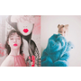 今年的春天代表色是它們!跟著韓星一起換上「藍粉黃」粉嫩系穿搭