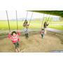 【宜蘭市】河濱公園+津梅棧道+慶和橋+觀景臺-天橋下盪鞦韆!溜小孩的好去處!遊樂設施、戶外野餐、放風箏、打球、跑跑跳跳,好開心!