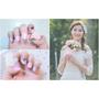 婚禮造型|新北頂溪美甲推薦 戶外婚禮春色粉嫩造型