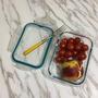 【生活/餐廚用品】環保Wawa愛地球必備:玻璃保鮮盒,La House粉藍色,裝水果野餐超方便!