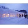 雪旅籠燈祭(雪旅籠の灯り)日本山形▋月山志津温泉期間限定,浪漫雪白大地打造出雪旅籠,點燈之後夢幻迷人