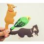動物磁鐵翹尾巴掛勾 日本可愛雜貨!