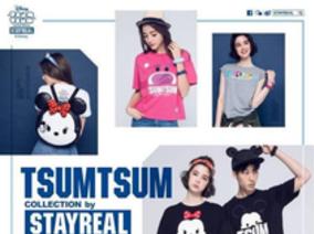 迪士尼TSUM TSUM萌力全開 卡通明星通通齊聚一堂  STAYREAL 攜手旗下女裝品牌ROCKCOCO 聯手開創穿搭新體驗