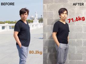 【中醫減肥減重案例】建翔~1個月減去8.6公斤,肥胖的肚子不見了!