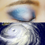 特殊妝|超酷颱風眼妝挑戰冷門藍色眼影(內有影音)