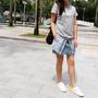 <穿搭 > 夏日到來了, 短短的牛仔裙出動了 20170610